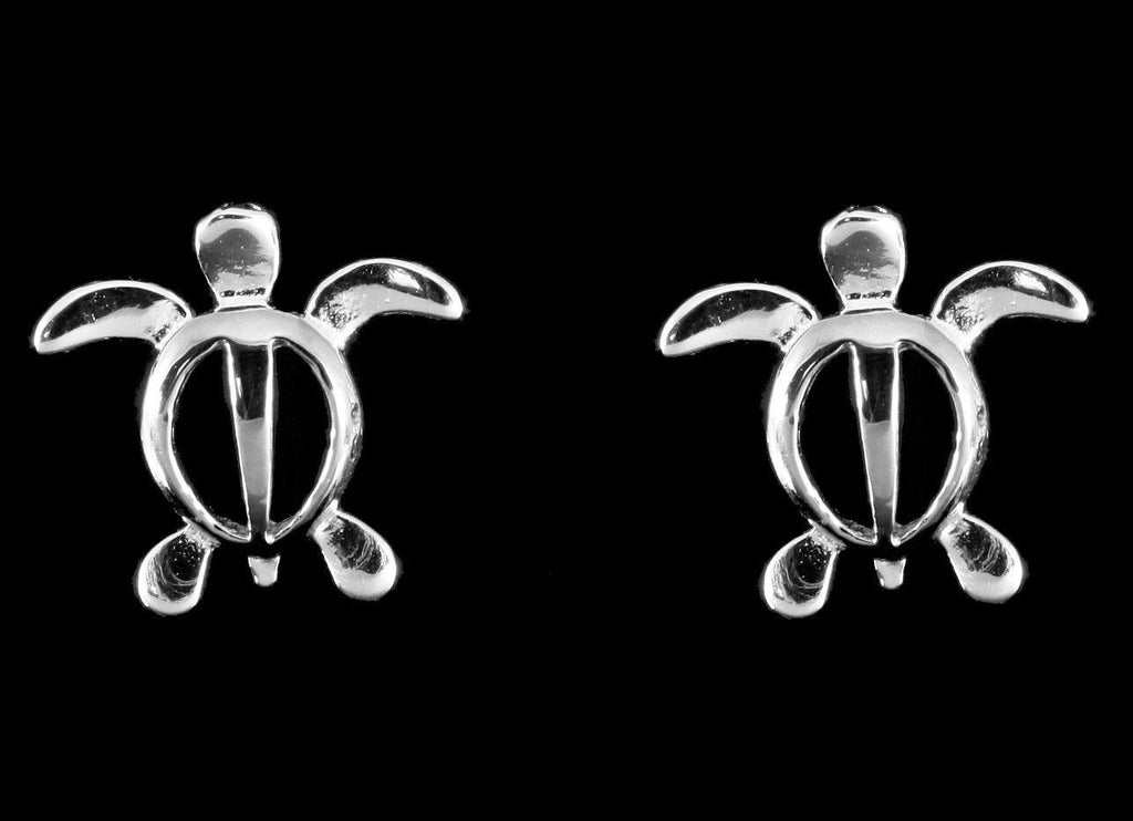 silver stud id turtle lily by charmed job earrings jewellery