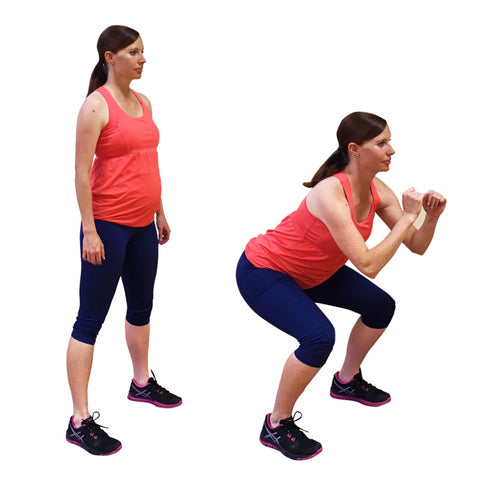 pregnant woman doing squats