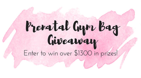 prenatal gym bag giveaway