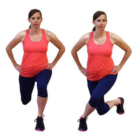 curtsy lunges butt workout for pregnancy