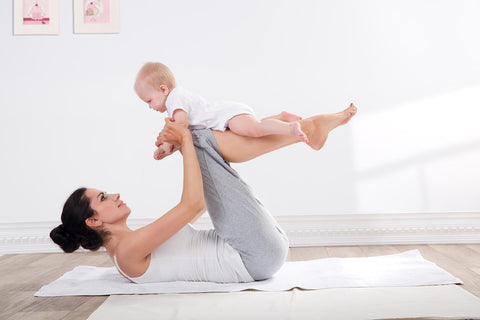 finding time to exercise with baby as a new mom