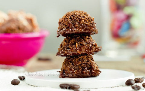 low calorie chocolate desserts mocha coconut macaroons