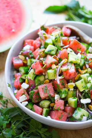 moroccan watermelon cucumber salad