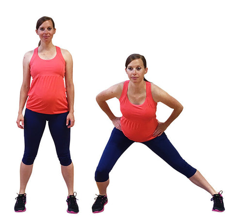 side lunges butt workout for pregnancy