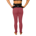 Load image into Gallery viewer, Mumberry® Dark Red Maternity Leggings with Over Belly Pregnancy Support