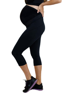 Move Maternity Leggings with Pregnancy Belly Support - Capris