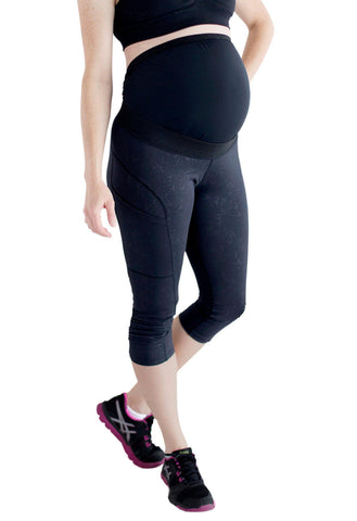 Move Maternity Leggings with Pregnancy Belly Support - Underbelly Capris