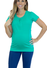 Load image into Gallery viewer, Vigor Maternity Shirt with Mumband Pregnancy Belly Support