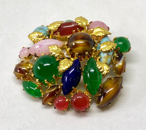 Colorful Austrian Brooch