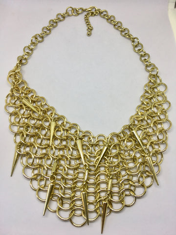 Gold Tone Bib Necklace