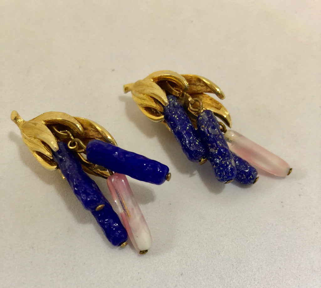 Kramer Lapis & Pink Clip On Eartings