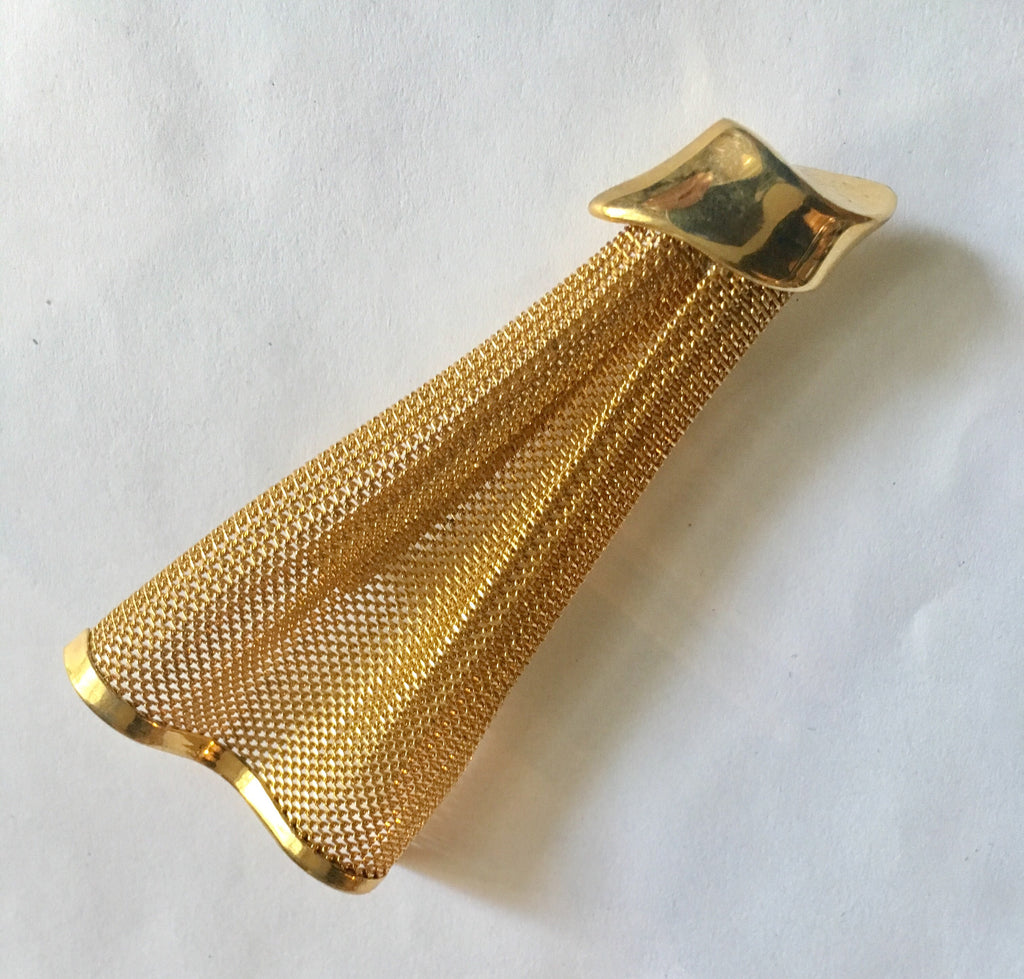 Givenchy Gold Tone Mesh Brooch
