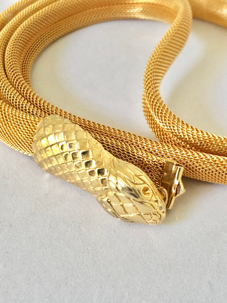 Gold Tone Snake Belt/Necklace