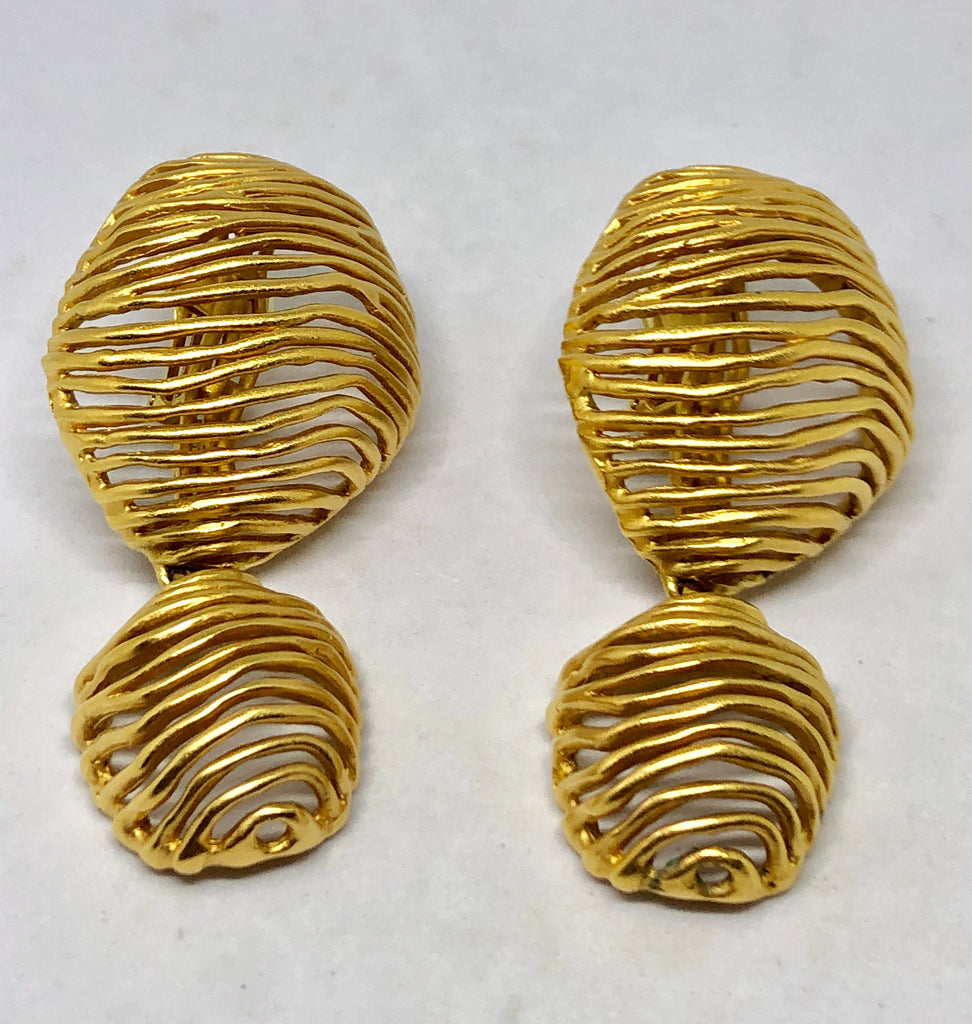Large Lanvin Clip On Earrings