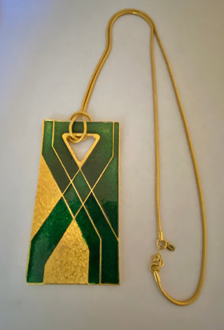 Green Modernist Pendant