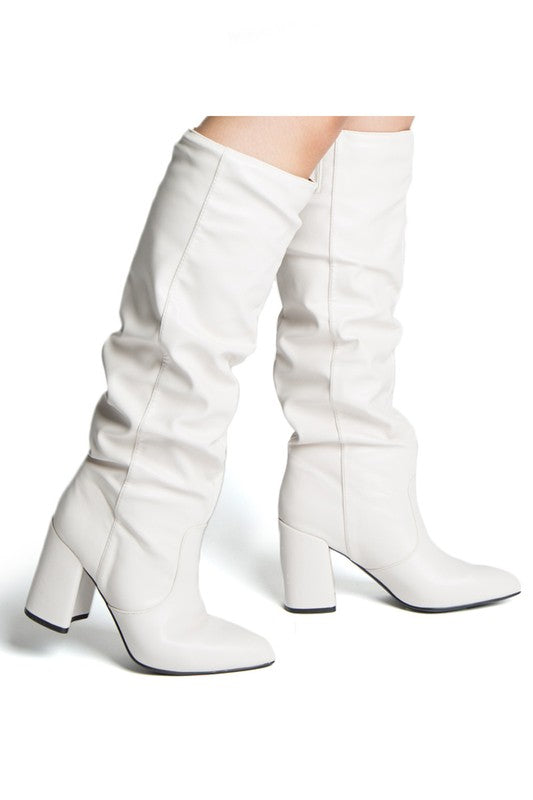CARLEY WHITE TALL BOOT