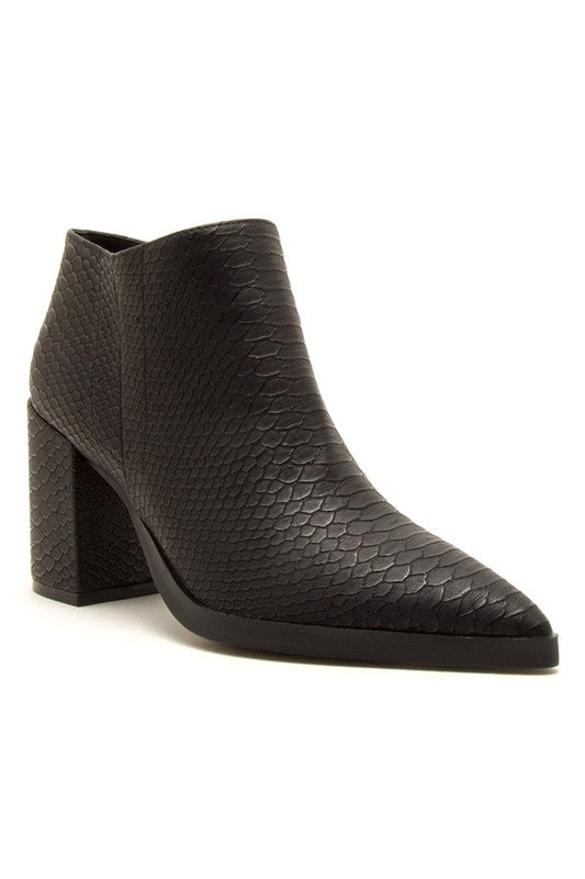 PIERCE BLACK SNAKE BOOTIE