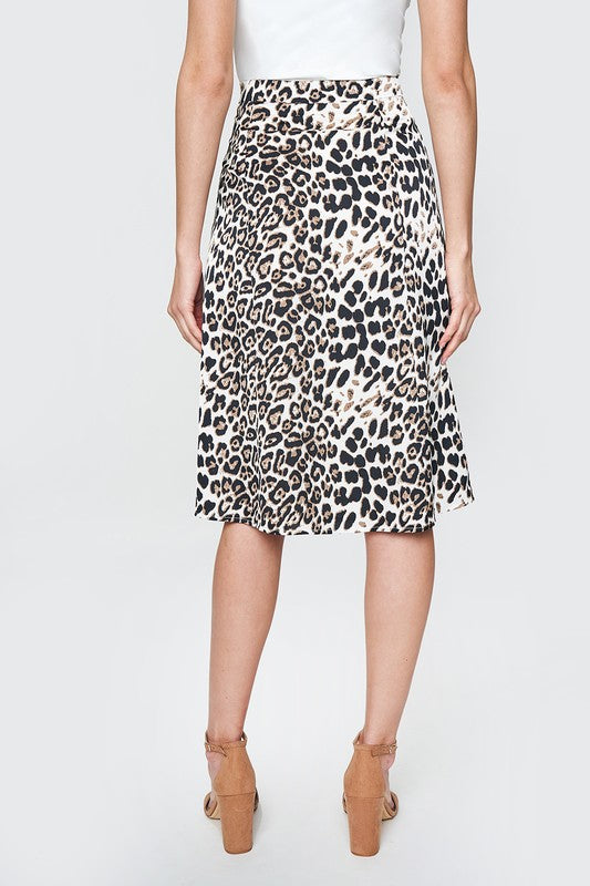FOLLOW ALONG MIDI LEOPARD SKIRT