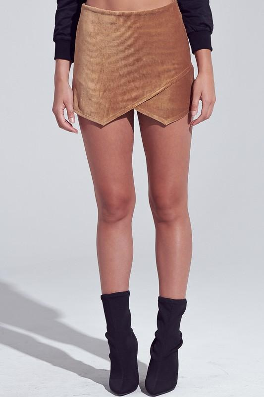 FEEL GOOD CAMEL CORDUROY SKORT