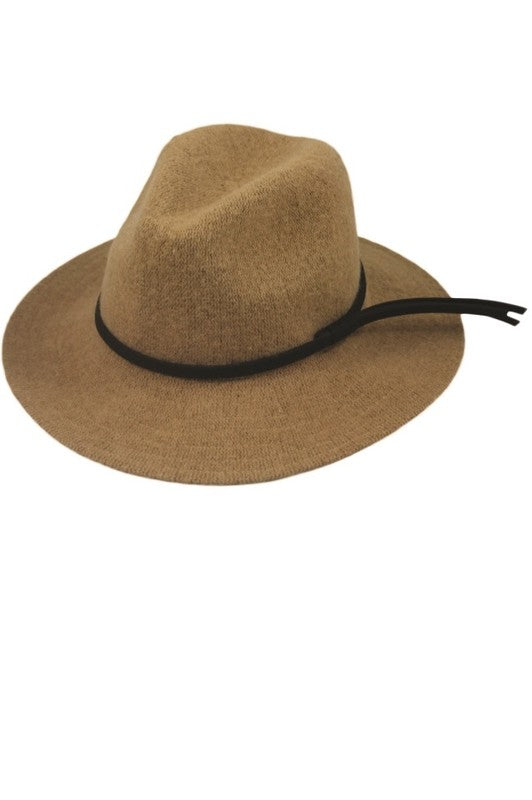 CAMEL WOOL BLEND CLASSIC WINTER PANAMA HAT