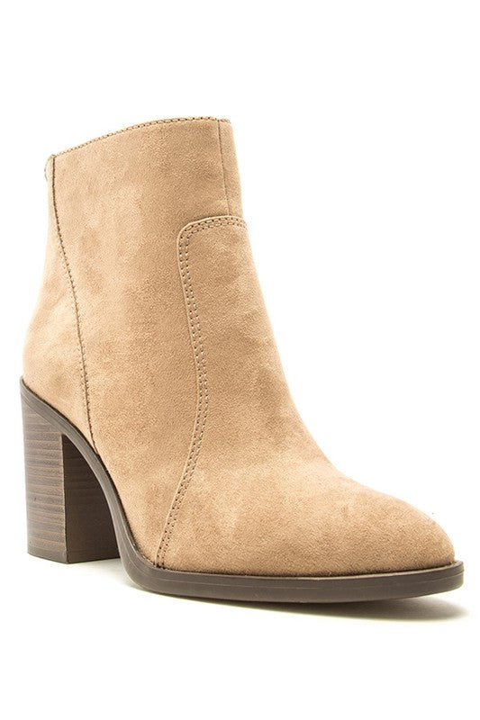 LANEY TAUPE SUEDE BOOTIE