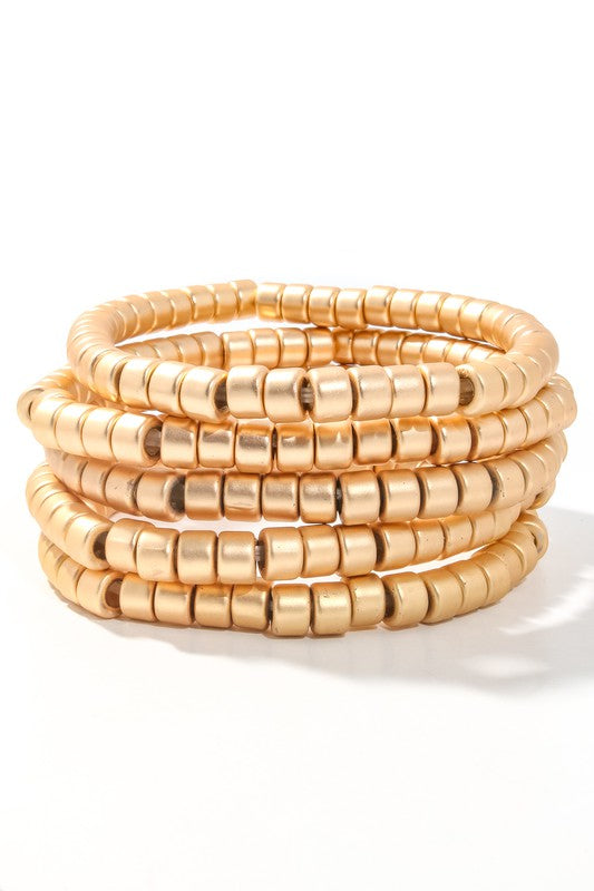 CYLINDER BEADED BRACELET SET | ANARCHY STREET Blu Spero online shopping