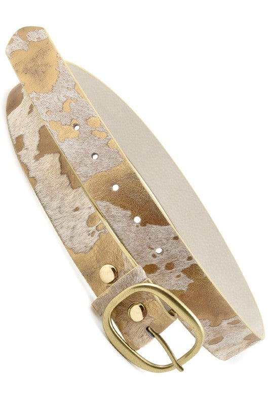 ANIMAL PRINT LEATHER BELT | ANZELL Blu Spero online shopping