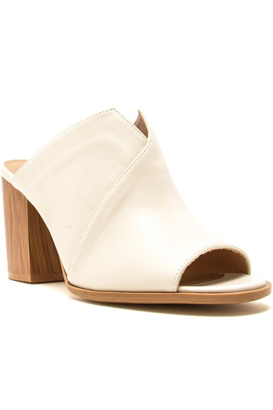 SALLY OFF WHITE OPEN TOE MULE