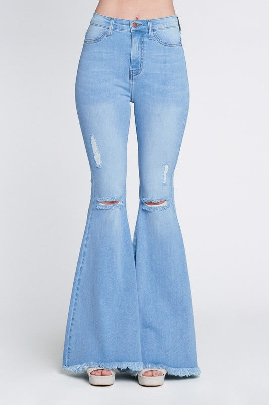 BE KIND LIGHT WASH FLARES | VIBRANT Blu Spero online shopping