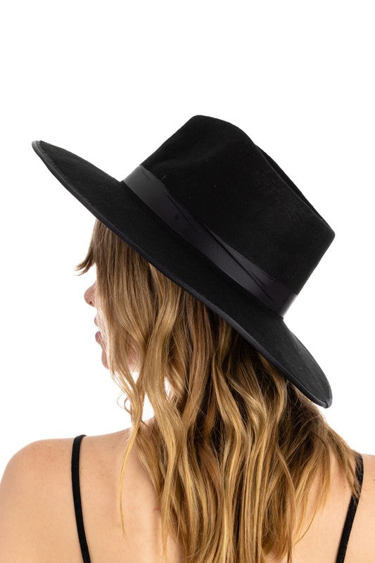 EASY VIBES FLAT BRIM FEDORA - 4 COLORS | FAME Blu Spero online shopping