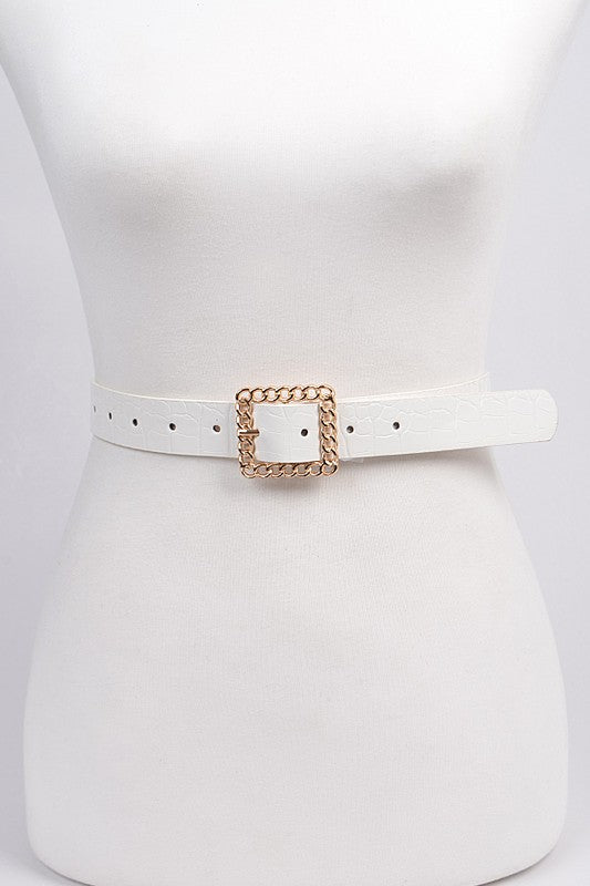 RECTANGLE CHAIN RING BELT - 3 COLORS | BAG BOUTIQUE Blu Spero online shopping
