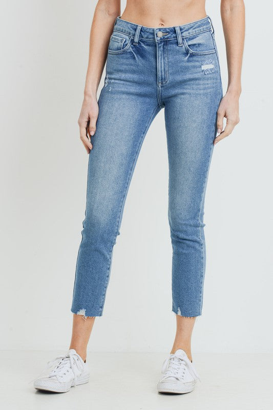 SPEED SKINNY MEDIUM WASH JEANS