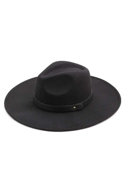 LEATHER STRAP FEDORA HAT - 2 COLORS | FAME Blu Spero online shopping