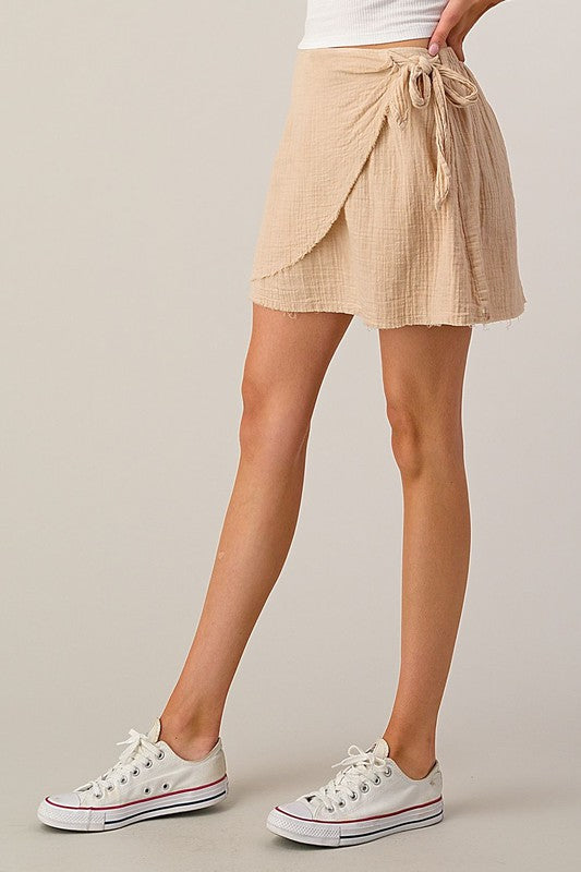 CHECK IT OUT NOW BEIGE SKIRT