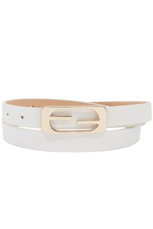 THIN BAR BUCKLE BELT - 2 COLORS