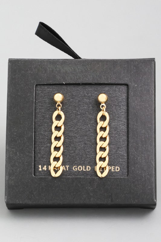 MINI CHAIN LINK DANGLE EARRINGS | FAME Blu Spero online shopping