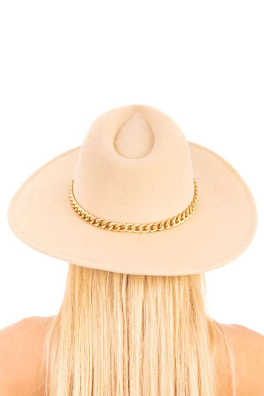 CHAIN ACCENT COWBOY HAT - 3 COLORS | ANARCHY STREET Blu Spero online shopping