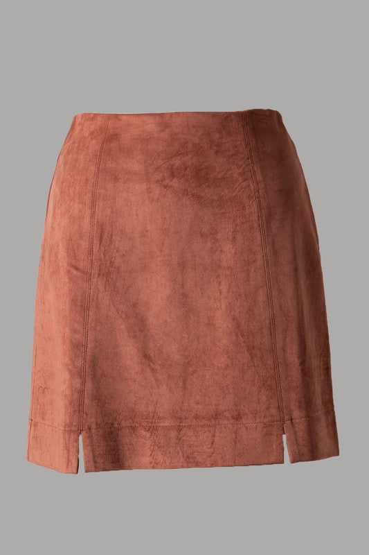 YOUR TEMPTATIONS SUEDE MINI SKIRT - 2 COLORS | FASCINATION Blu Spero online shopping