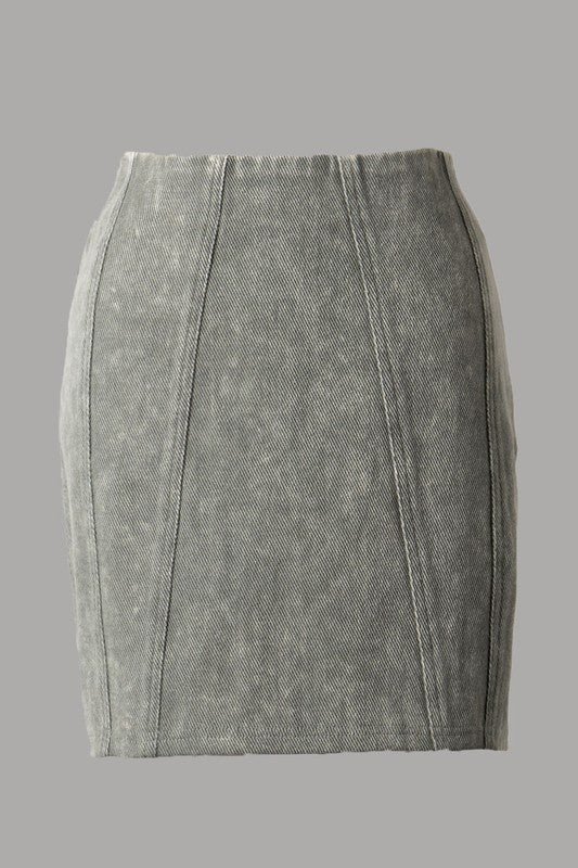 SAVE TONIGHT ACID WASHED SKIRT - 2 COLORS | FASCINATION Blu Spero online shopping