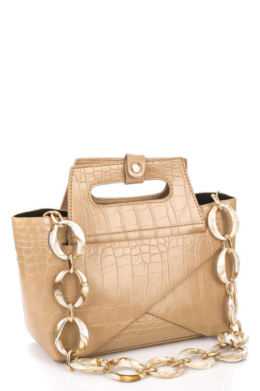 FAUX ALLIGATOR SKIN HANDBAG- 2 COLORS | ANARCHY STREET Blu Spero online shopping