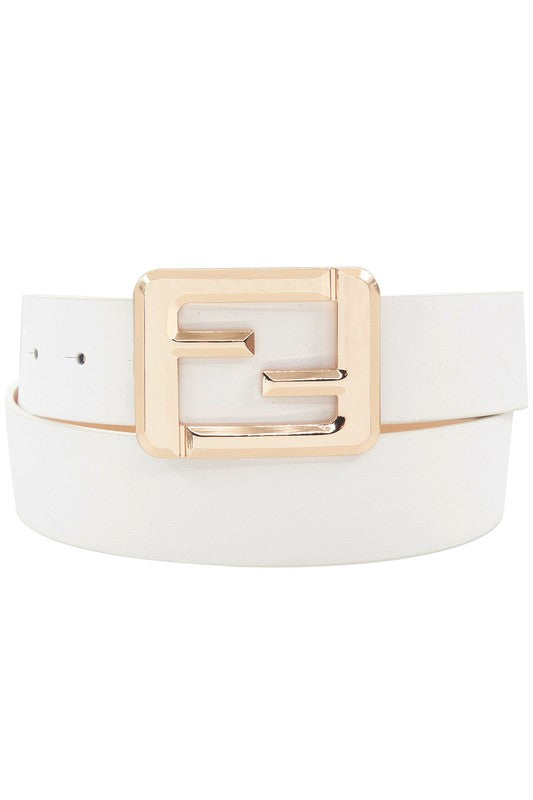 SQUARE GOLD BUCKLE BELT | GIRLY Blu Spero online shopping