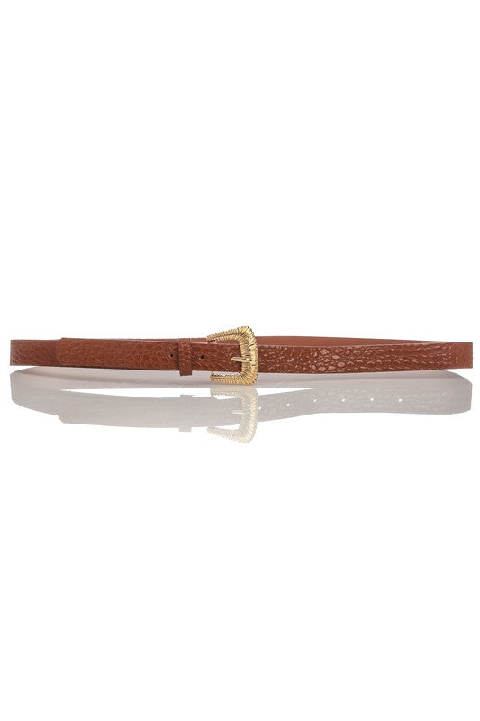 RIDGE BUCKLE BELT - 2 COLORS | ANARCHY STREET Blu Spero online shopping