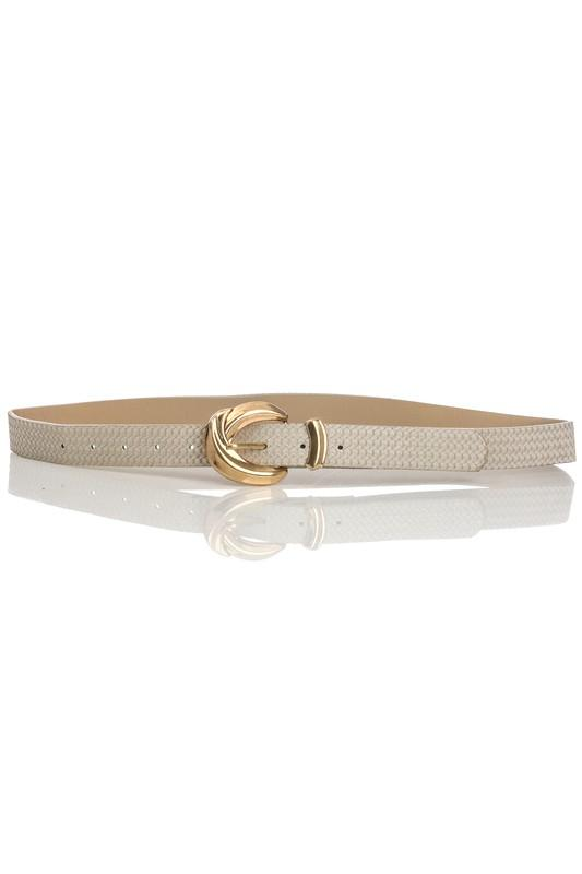 TEXTURED BUCKLE FAUX LEATHER BELT | GIRLY Blu Spero online shopping
