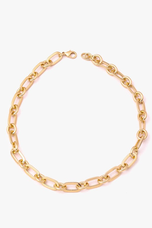 MIXED OVAL CHAIN LINK NECKLACE | ANARCHY STREET Blu Spero online shopping