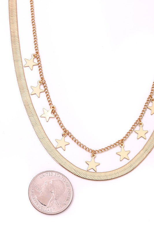 HERRINGBONE & STAR CHAIN NECKLACE | ANARCHY STREET Blu Spero online shopping