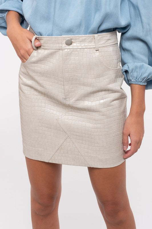 FAITHFUL SNAKE PRINT MINI SKIRT | Blu Pepper Blu Spero online shopping