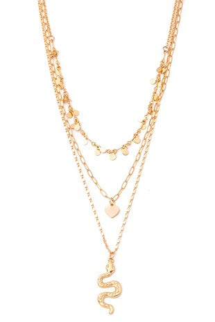 LAYERED GOLD SNAKE PENDANT NECKLACE | ANARCHY STREET Blu Spero online shopping