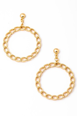 SOLID CHAIN HOOP CROP EARRING | ANARCHY STREET Blu Spero online shopping