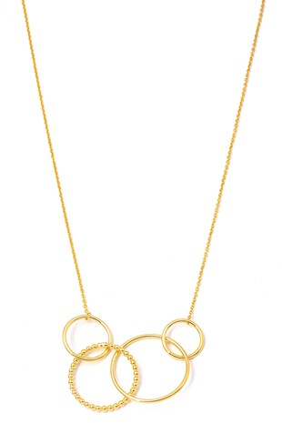 4 HOOP LINK PENDANT NECKLACE | ANARCHY STREET Blu Spero online shopping