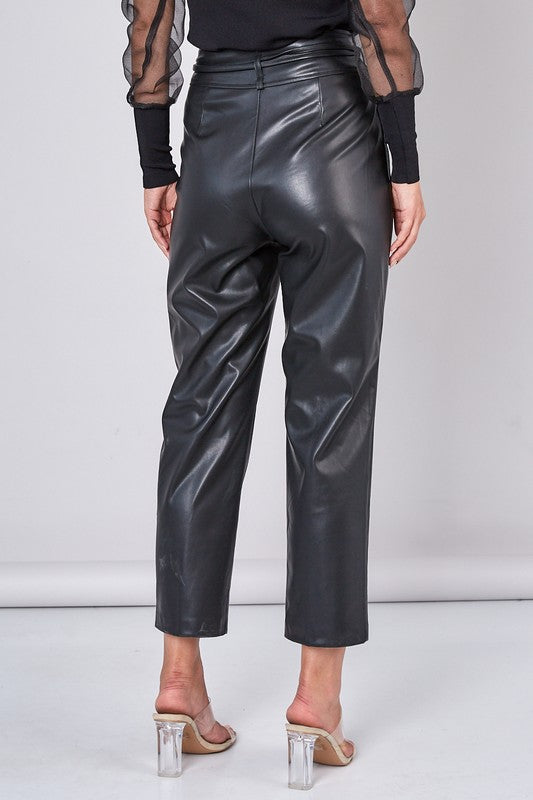 RIGHT TIME FAUX LEATHER PANTS | DO + BE Blu Spero online shopping